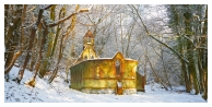 slides/Bedham Chapel in Snow.jpg bedham chapel.church,school,woodland,trees,snow,winter,sunlight,disused Bedham Chapel in Snow