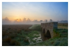 slides/Cowdray Ruins.jpg sunrise,cowdray ruins, midhurst,west sussex,old,mist,river,clouds,trees,water,rushes,bridge Cowdray Ruins