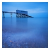 slides/Selsey Blues.jpg sunset,selsey bill, west sussex, dusk,water,sea,ocean, pebbles.rnli station Selsey Blues