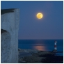 slides/Beachy Head Moon rise.jpg lighthouse, cliffs,water,coast,sunset,moon,dark,night,eastbourne,seven sisters,beach head Beachy Head Moon rise