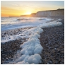 slides/Foamy Sunset.jpg seven sisters,birling gap,east sussex,south downs national park, water,ocean,cliffs,long exposure Foamy Sunset
