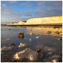 slides/Low Tide at Birling Gap.jpg sunset,birling gap, west sussex,coast,water,south downs national park, sky,clouds, ripples,sand, sea, rocks,chalk,seven sisters cliffs Low Tide at Birling Gap